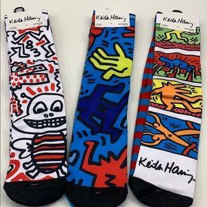 New KEITH HARING Knee Socks